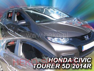 Дефлекторы боковых окон HEKO для HONDA CIVIC 2012- WAG