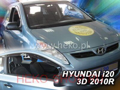Дефлекторы боковых окон HEKO для HYUNDAI I-20 2010- 3D