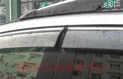 Дефлекторы боковых окон ALVI-STYLE для HONDA CIVIC 2006-2011 SD/ACURA CSX 2006- c хромированным молдингом