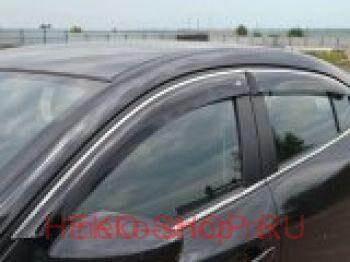 Дефлекторы боковых окон COBRA для BMW X5 (G05) 2018- с хромированным молдингом