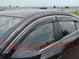 Дефлекторы боковых окон COBRA для CHEVROLET AVEO II 2011- SD с хромированным молдингом