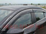 Дефлекторы боковых окон COBRA для CHEVROLET CRUZE 2009- SW с хромированным молдингом
