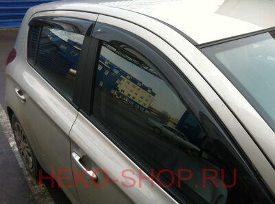 Дефлекторы боковых окон COBRA для HYUNDAI I20 2009- 5D HB